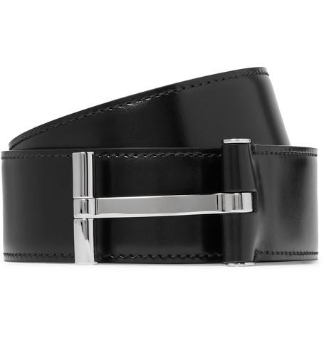 TOM FORD - 4cm Black Leather Belt - Men - Black