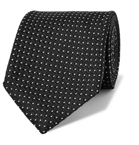 TOM FORD - 8cm Pin-Dot Silk-Jacquard Tie - Men - Black