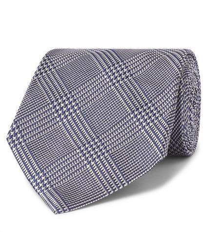 TOM FORD - 8cm Prince of Wales Checked Silk-Jacquard Tie - Men - Blue