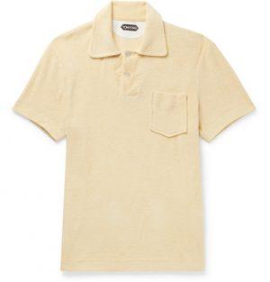 TOM FORD - Cotton-Terry Polo Shirt - Men - Yellow