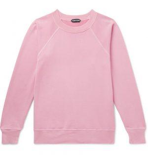 TOM FORD - Garment-Dyed Loopback Cotton-Jersey Sweatshirt - Men - Pink