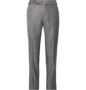 TOM FORD - Grey O'Connor Slim-Fit Super 110s Wool-Sharkskin Suit Trousers - Men - Gray