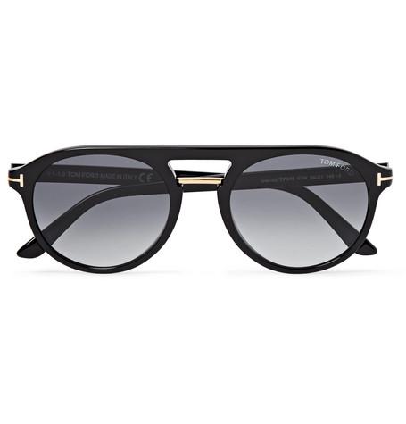 TOM FORD - Jacob Aviator-Style Acetate Sunglasses - Men - Black