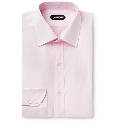 TOM FORD - Light-Pink Slim-Fit Cotton-Poplin Shirt - Men - Pink