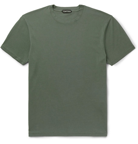 TOM FORD - Lyocell and Cotton-Blend Jersey T-Shirt - Men - Green