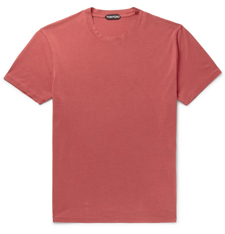 TOM FORD - Lyocell and Cotton-Blend Jersey T-Shirt - Men - Red