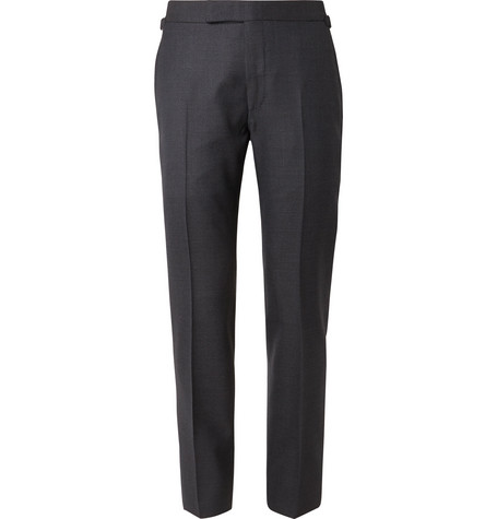 TOM FORD - Navy Shelton Slim-Fit Puppytooth Wool Suit Trousers - Men - Navy