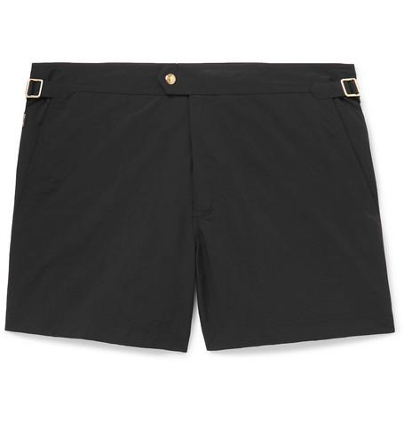 TOM FORD - Slim-Fit Short-Length Swim Shorts - Men - Black