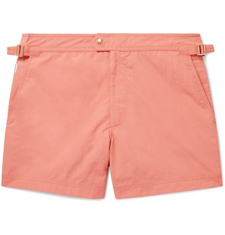 TOM FORD - Slim-Fit Short-Length Swim Shorts - Men - Orange