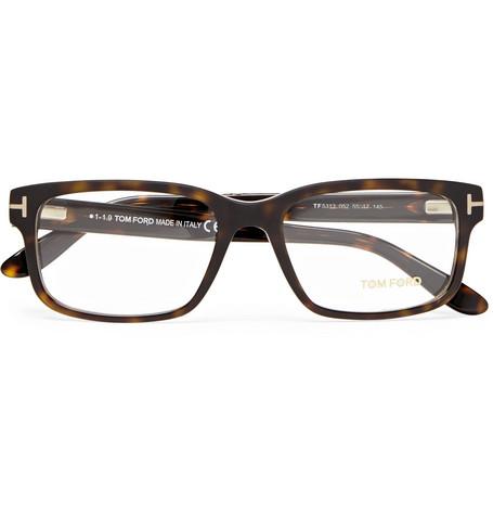 TOM FORD - Square-Frame Tortoiseshell Acetate Optical Glasses - Men - Tortoiseshell