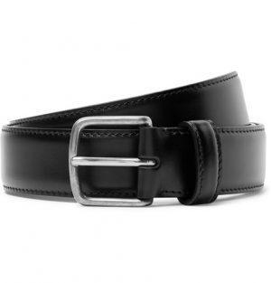 The Row - 3cm Black Polished-Leather Belt - Men - Black
