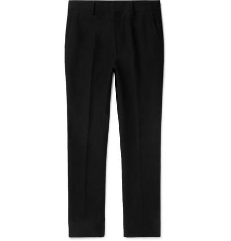 The Row - Black Mick Slim-Fit Cotton and Cashmere-Blend Moleskin Trousers - Men - Black