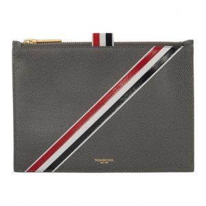 Thom Browne Grey Large Coin Pouch