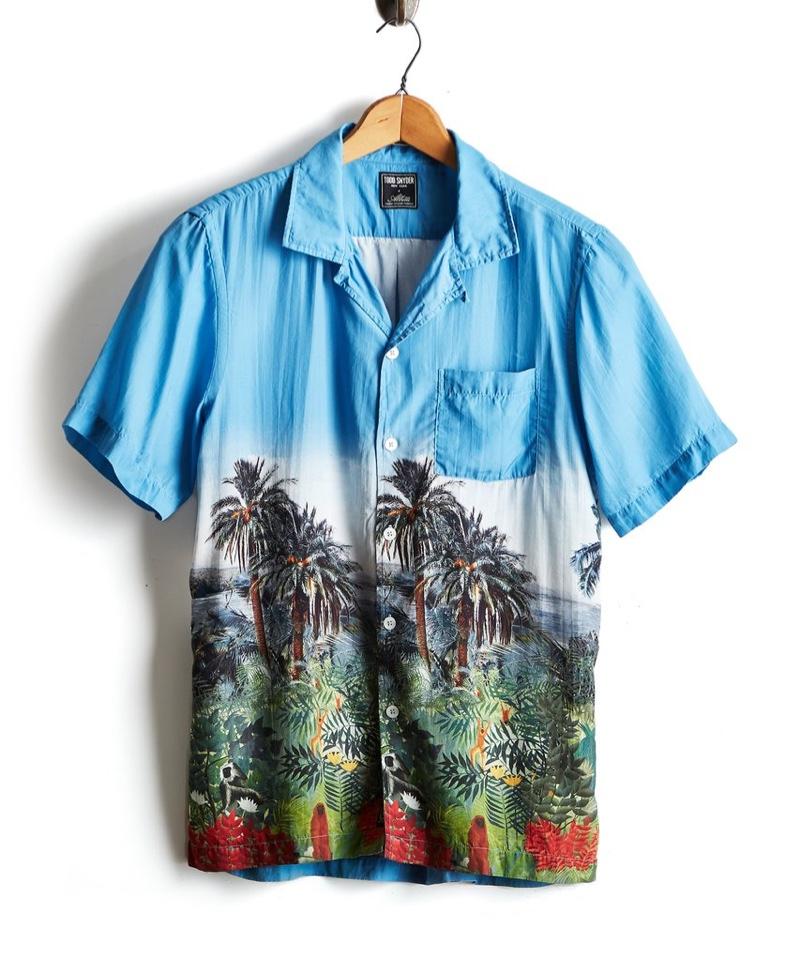 Todd Snyder Short Sleeve Island Photo Print Shirt $188