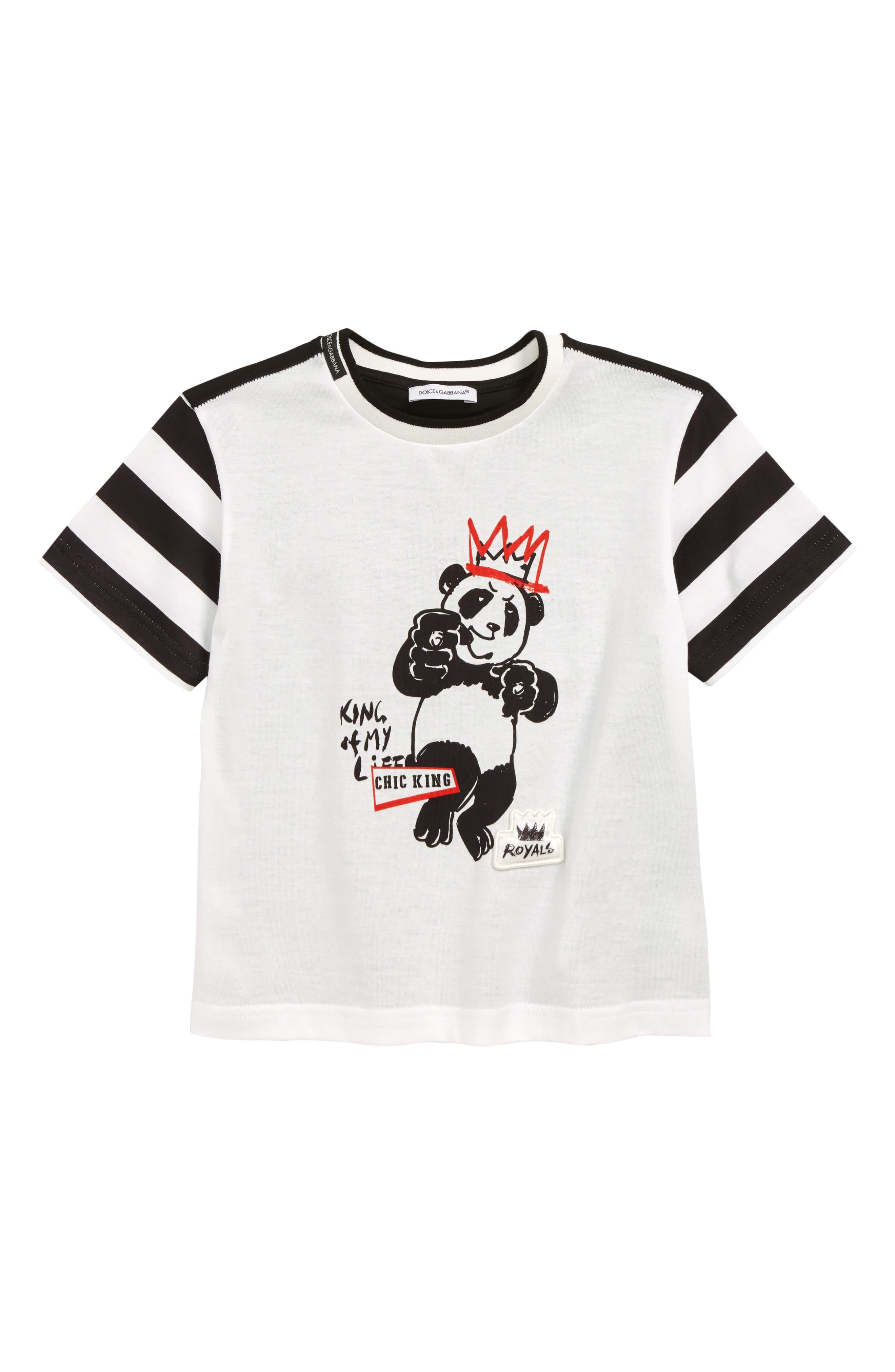 9c316f01 Toddler Boy's Dolce & gabbana Panda King T-Shirt, Size 4 – White ...