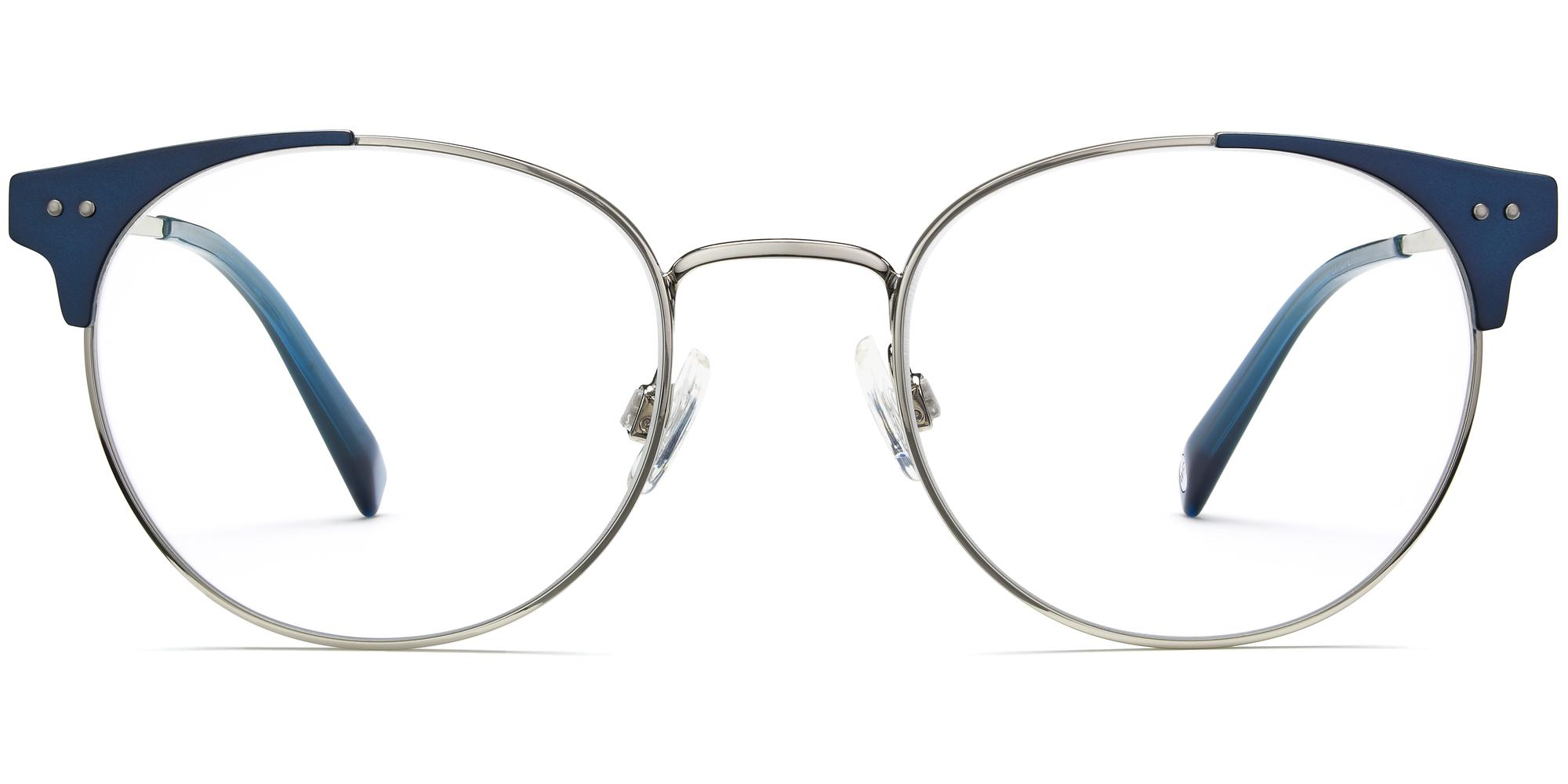 080308b8d9bf9 Townsend m eyeglasses in Polished Silver with Brushed Navy (Rx) | The  Fashionisto