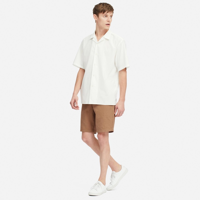Warming up to summer style, Janis Ancens wears UNIQLO's linen blend shorts $29.90.