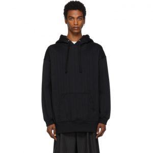 Valentino Black Panelled Hoodie