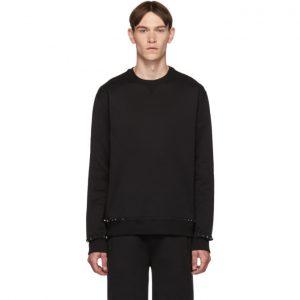 Valentino Black Rockstud Untitled Sweatshirt