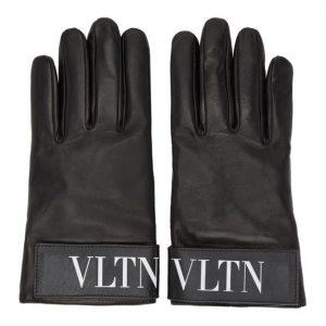 Valentino Black Valentino Garavani VLTN Gloves