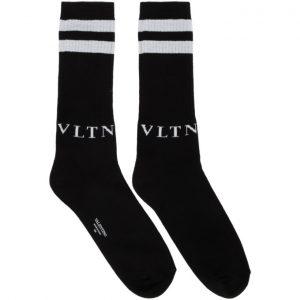 Valentino Black Valentino Garavani VLTN Socks