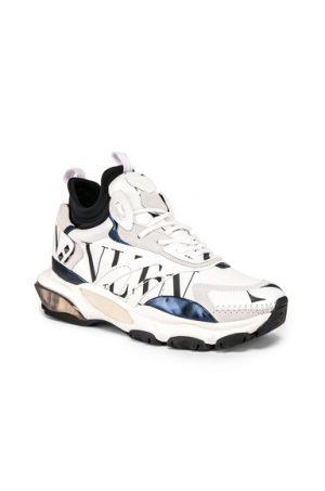 Valentino Hi-Top Logo Sneaker in White. - size 43 (also in 42,45)