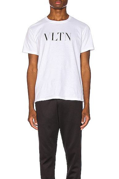 Valentino Logo Tee in White. - size S (also in L,M,XL)