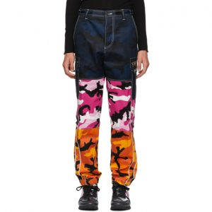 Valentino Multicolor Camou Shuffle Cargo Pants