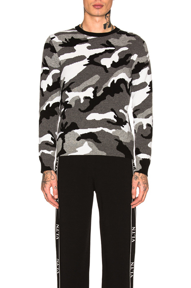 Valentino Sweatshirt in Abstract,Black,Gray. - size S (also in )