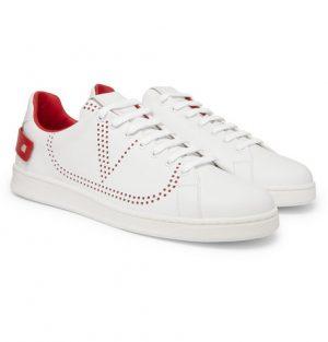 Valentino - Valentino Garavani Net Perforated Leather Sneakers - Men - White