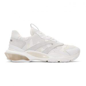 Valentino White Valentino Garavani Camo Bounce Sneakers