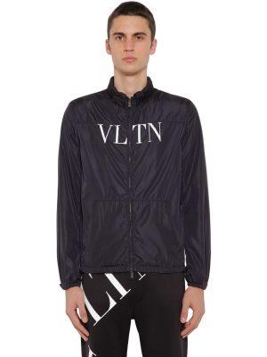 Vltn Print Hooded Nylon Wind Jacket