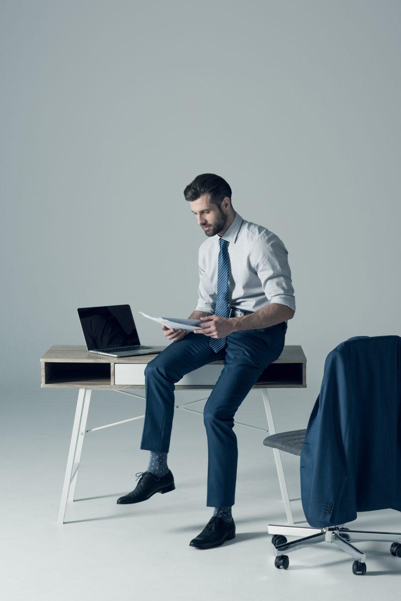 Working Man Stylish Smart Suit Style