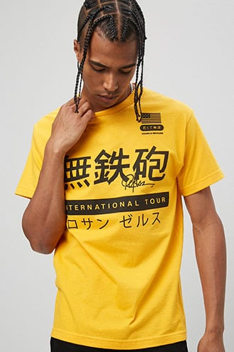 Young & Reckless Graphic Tee at Forever 21 Gold/black