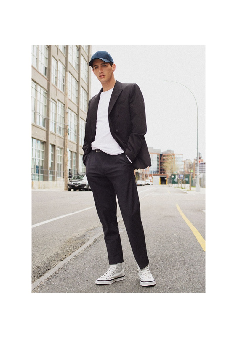 Austin Augie sports relaxed tailoring from Zara.