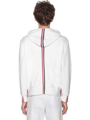 Zip-up Cotton Sweatshirt Hoodie