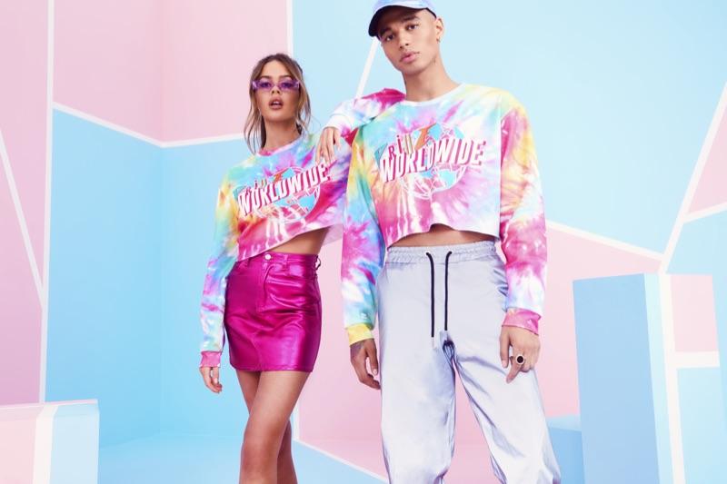 Freya Haworth and Shae Pulver front boohoo/boohooMAN's Pride 2019 campaign.