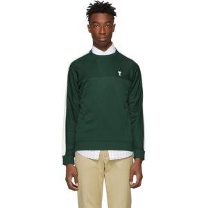 AMI Alexandre Mattiussi Green Technical Sweatshirt