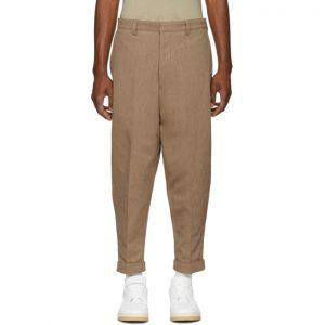 AMI Alexandre Mattiussi Tan Oversized Chino Trousers