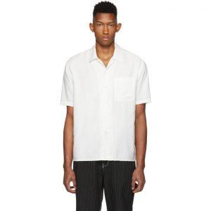 AMI Alexandre Mattiussi White Camp Collar Shirt