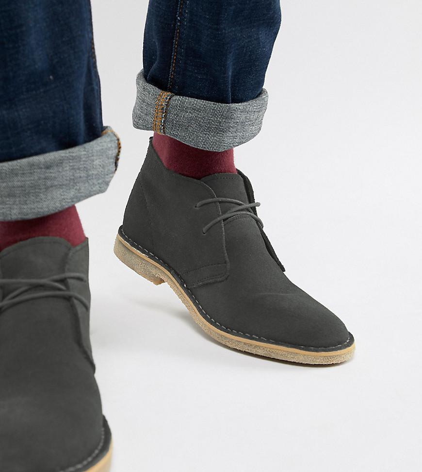 3fc2898fd85 ASOS DESIGN desert boots in gray suede - Gray