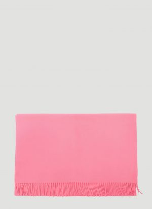 Acne Studios Canada Fringed Wool Scarf in Pink size One Size