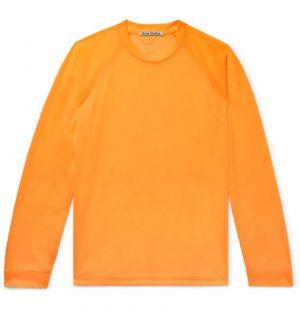 Acne Studios - Eggan Mesh T-Shirt - Men - Bright orange
