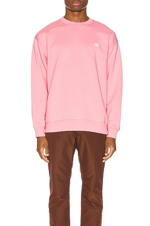 Acne Studios Forba Face Sweatshirt in Pink. - size XL (also in S,M,L)