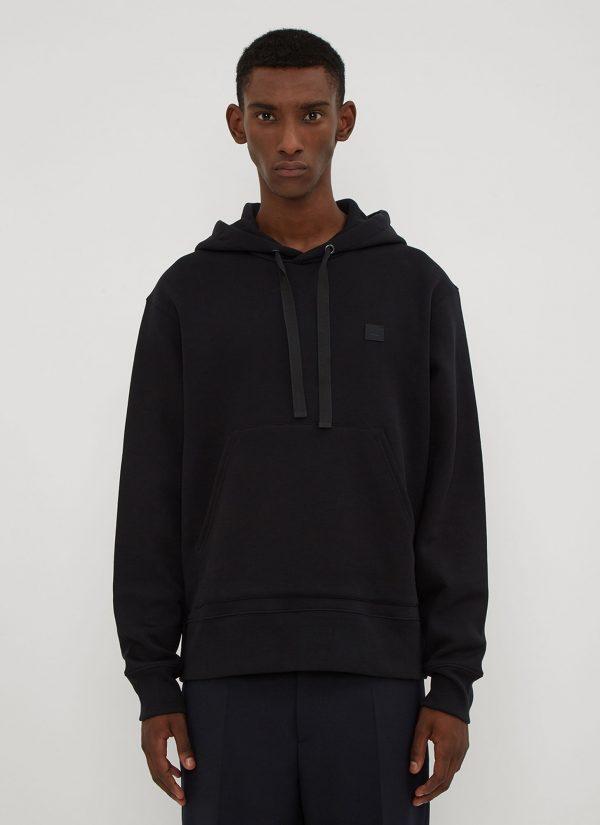 Acne Studios Hooded Ferris Face Sweatshirt in Black size XXL