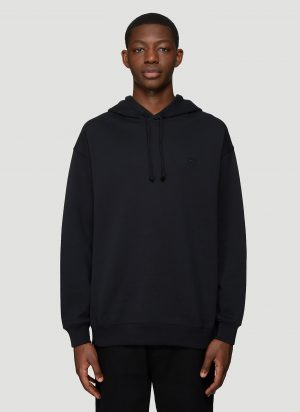 Acne Studios Hooded Oversized Face Patch Sweatshirt in Black size S