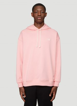 Acne Studios Hooded Oversized Face Patch Sweatshirt in Pink size L