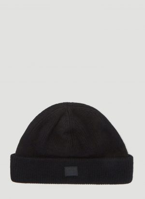 Acne Studios Kansy Knit Hat in Black size One Size