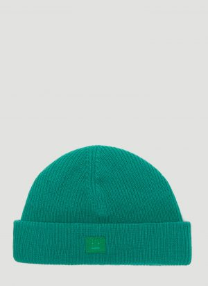Acne Studios Kansy Knit Hat in Green size One Size