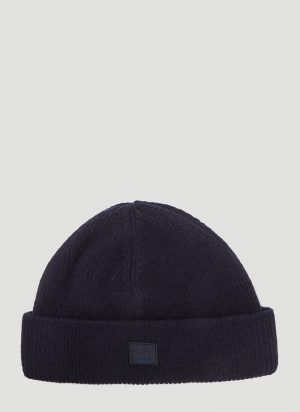 Acne Studios Kansy Knit Hat in Navy size One Size
